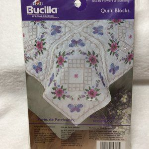 Bucilla Embroidery Quilt pattern 6 blocks